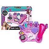 LOVOICE Juego de maquillaje para niños, 18 piezas, lavable, juego de maquillaje de princesa, juguete de maquillaje lavable