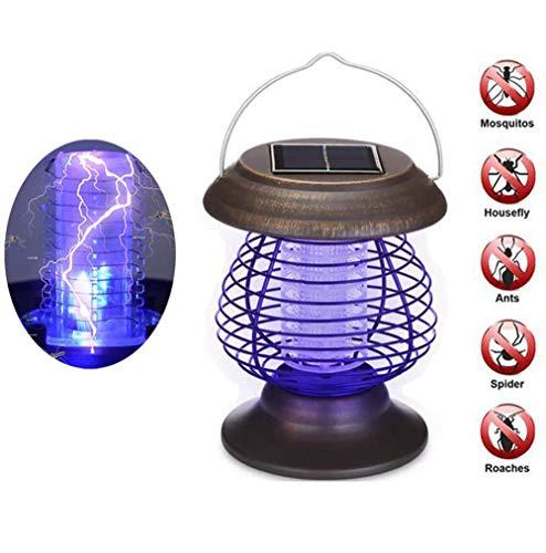 Lámpara Solar para Matar Mosquitos, Insecticida Impermeable Bug Zapper UV Light para...