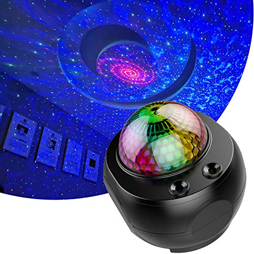 Star Sky Projector for Bedroom Ocean Wave Night Lamp 1-14 Year Old Girl and Boy Disco Ball Lights Gift for Kids Baby Adult-Black