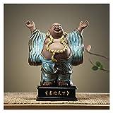 liushop Estatuas Muebles de Oficina Creativa Maitreya Buda Sala de Estar Estudio Pórtico Cerámica Figura Joyería Muebles Regalos Decoración del hogar (Color : B)