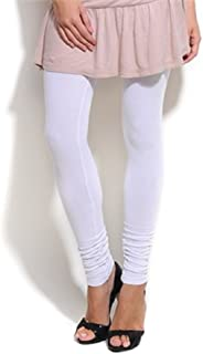 White Churidar Leggings and Dupatta Set