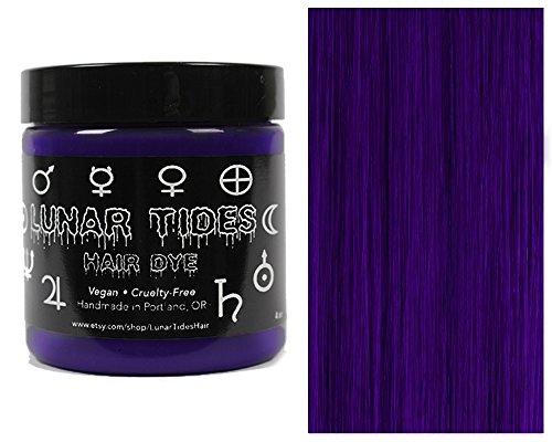 Lunar Tides Hair Dye - Nightshade Dark Purple Semi-Permanent Vegan Hair Color (4 fl oz / 118...