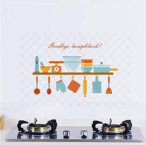 Wuyii 60 x 90 cm keuken hoge temperatuur muursticker tegels oliebestendig zelfklevend PVC decoratie huis keuken kast