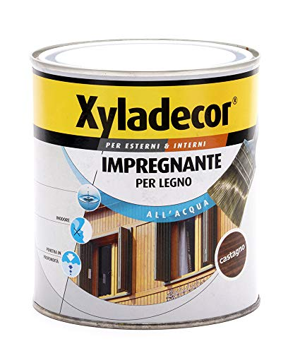 Xyladecor 6053171 Barniz al agua castaño 750 ml