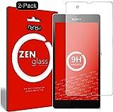 ZenGlass [2 Stück Flexible Glas-Folie kompatibel mit Sony Xperia Z Panzerfolie I Bildschirm-Schutzfolie 9H