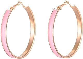 Flying Jewellery Brass Hoop Earrings, Latch Closure