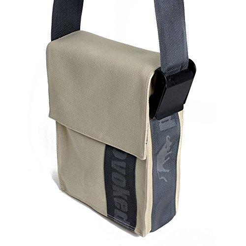 HAB & GUT -E5022A-STRIPE- PROVOKED City Bag, aus Segeltuch mit Klettbandverschluss beige 25 x 31 cm