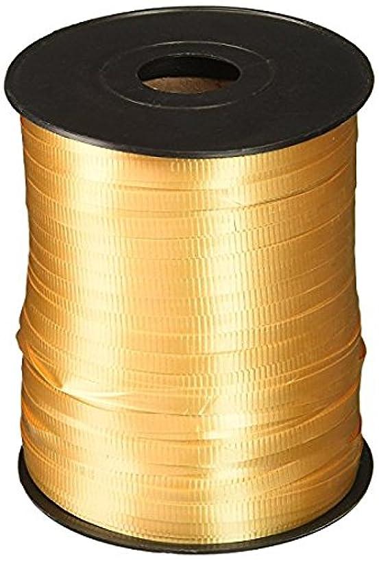 Gold, Berwick Splendorette Crimped Curling Ribbon, 3/16-Inch Wide by 500-Yard Spool