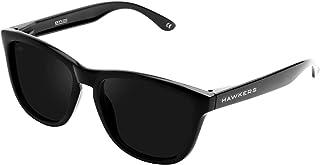 Hawkers Men's DIAMOND DARK ONE OTR23 Rectangular Sunglasses, Black, 12 mm