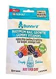 Bunny V Nail Aid Maximum Nail Growth Gummy Vitamins! 15 Soft Gummies Natural Berry Flavor! Blend of Vitamin B7, Vitamin C and Vitamin B12! Helps to Stop Peeling & Splitting for Longer Strong Nails!