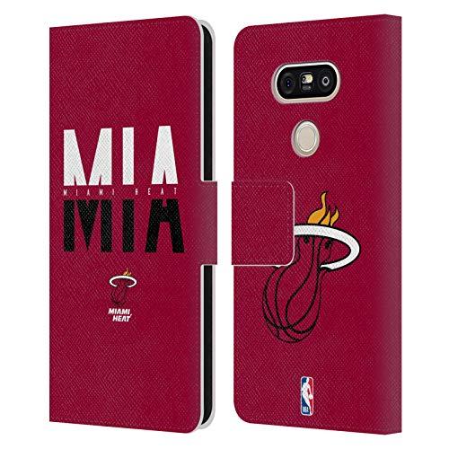 Ufficiale NBA Tipografia 2019/20 Miami Heat Cover in Pelle a Portafoglio Compatibile con LG G5 SE / G5 Lite