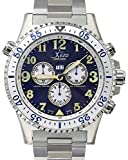 Xezo Air Commando Mens Swiss Made Serialized Pilots Chronograph Vintage Style Watch, 20 ATM, 2nd Time Zone