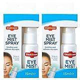 2 x Spray de niebla para ojos Treat and Ease, spray hidratante para ojos irritados, alivia y alivia...
