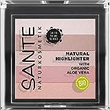 SANTE Naturkosmetik Natural Highlighter 02 Rose, Bronzer, mit lichtrefkletierenden Schimmerpigmenten für strahlende Highlights, natürlicher Glow, mit...