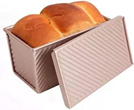 Champagne Gold Loaf Pan with Lid Bread Toast Mold with Cover Non-Stick Bread Cake Pan Tray Bread Tin Bakeware