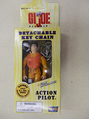 "GI Joe Action Pilot Detachable Key Chain Fully Articulated 4"" Figure"