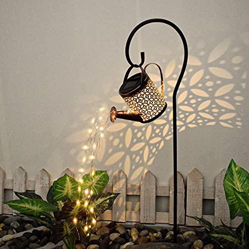 Star Dusche Licht,Solar Gießkanne Fairy Garden Light,Solarlaterne für Außen, LED Solar Laterne,Garten Solarlampen,Garten Dekoration Wegeleuchten,Gießkanne Mit Beleuchtung