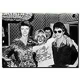 David Bowie mit Iggy Pop STAR Vintage Gemälde Poster Kunst