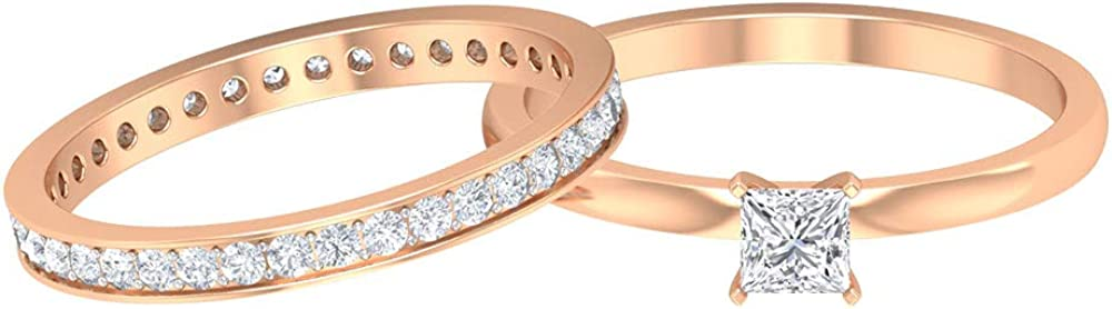 Rosec Jewels – Solitaire Ring with HI-S 0.86 Bombing new work Eternity CT Band Sales results No. 1