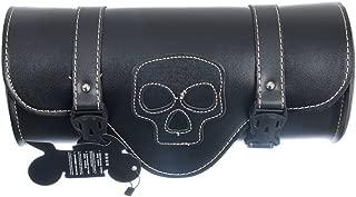 Generic Motorcycle Tool Bag Waterproof Saddlebag, Windshield Bag Fork Bag Handlerbar Bag with Skull Pattern