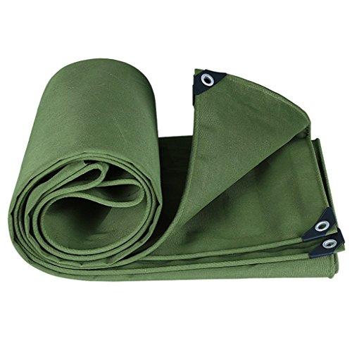 ZZYE Lona Lona de Lona Potente protección Solar Impermeable Utilizado en Poncho Familia Camping Jardín al Aire Libre, Grosor 0.7mm, 550 g / m2, Ejército Verde Lona Impermeable (Size : 3X4m)