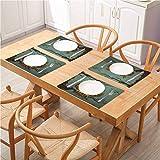 FloraGrantnan - Manteles individuales lavables con aislamiento térmico, diseño de búho agotado y resaca cansada con árbol de roble, para mesa de comedor lavable, juego de 6