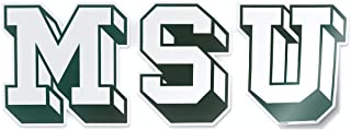 Nudge Printing Michigan State Spartans Vintage MSU Block Letters College Vault Retro Logo Car Window Decal Vinyl Bumper Sticker Laptop Sticker Made in East Lansing, Michigan USA