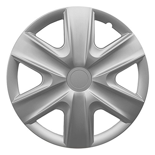 CM DESIGN 14 Zoll Radzierblenden HEXAN Silver (Silber). Radkappen passend für Fast alle OPEL wie z.B. Corsa C