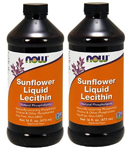 Now Foods, Sunflower Liquid Lecithin, 16 fl oz (473 ml) (Pack of 2)