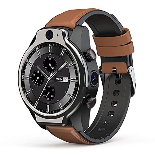 FHJL LEM14 4G Global Call Smart Watch, IP68 50M A Prueba de Agua 1.6 Pantalla Redonda Completa 4G + 64G 8MP + 5MP Cámara Dual 1100mAh Android 10 Multi función Pulsera
