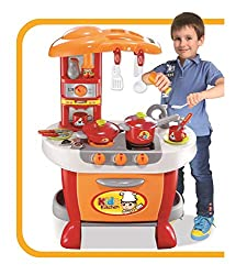LEARNING TOY: Vinsani Kitchen enhances your child's imagination, creativity, role play as well as communicative skills. It's ideal toy for pretend play games where kids learn about kitchen items, food & cooking. Ideal for preschool or nurseries for a...
