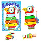 DJECO Animambo Cymbal and Xylophone Musical Instrument, Blue
