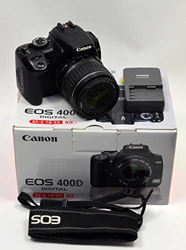 Canon EOS Kiss X (Rebel XTi / EOS-400D) 10 MP CMOS APS-C Digital SLR Camera with 2.5 inch LCD + EF-S 18-55mm f/3.5-5.6 Lens