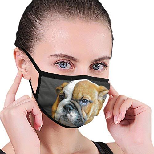 Englisch Bulldogge Welpe Erwachsene Kinder drucken S-Moke Allergien Waschbar Wiederverwendbarer Mundschutz für Party