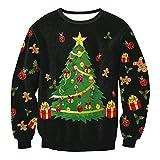 Sudaderas Navideñas Unisex Sudadera Navidad Estampadas Jersey Hombre Mujer Sueter Navideño Reno Sweaters Pullover Cuello Redondo Largas Chica Oversize Anchas Deportivas Invierno Personalizadas S