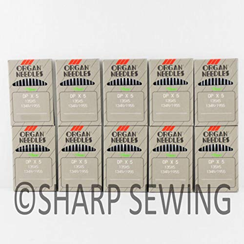 Lowest Prices! MACOSKI Supplies for 100 Organ Titanium 135X7PD 23 Sewing Machine Needles 135X5PD DPX...