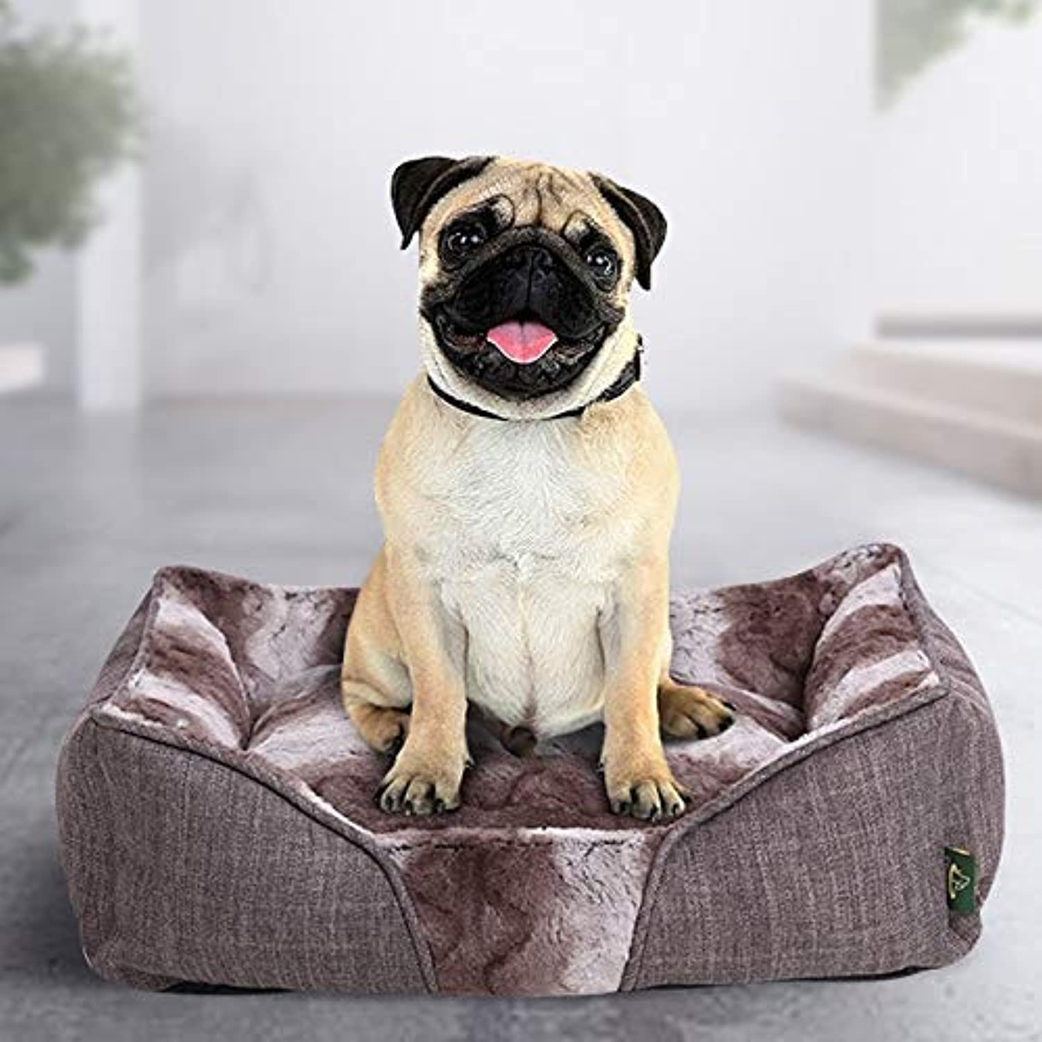MJK Pet Mattress Dog Bed Cat Mat,Square Camouflage Thick Oxford Cloth Waterproof Pet Nest Removable Predection Spine,Easy to Clean and Portable Sleeping Mattress,Extra Comfortable Four Seasons Univer