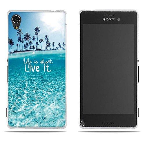 DIKAS Handyhülle Sony Xperia M4 Aqua (E2303 E2333 E2353), 3D Mode Muster Transparente Silikon Clear TPU Soft Gummi Silikon Abdeckung Telefon Fall für Sony Xperia M4 Aqua (E2303 E2333 E2353)- Pic: 05