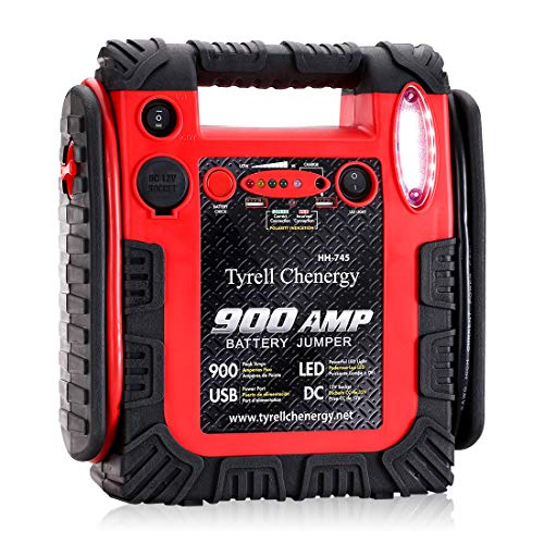 Jump Starter Car Battery Charger, Emergency Power Supply 20000mAh Portable Power Pack (Up to 6L Gas or 6L Diesel Engine), 12V Portable Auto Lead-acid Battery Booster with LED Light Car Battery Charger Set