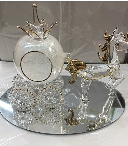 Glass Cenicienta de Cristal y Calabaza para carruaje y Caballo