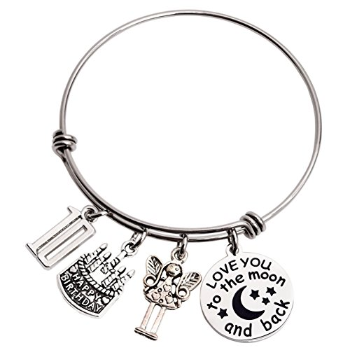 10th Birthday Gifts For Girls 10 Year Old Girl Gift Bangle Love You to the Moon and Back Ddecorations jewelry Set
