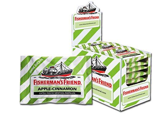 Fisherman's Friend Apple-Cinnamon, Karton mit 24 Beuteln, exklusive Sonderedition, Apfel-Zimt und Menthol Geschmack