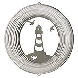 CIM Edelstahl Windspiel - LEUCHTTURM 180 - lichtreflektierend - Durchmesser: 18cm - inkl. Aufhängung