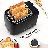 Aigostar Warrior 30JRL – 2-Scheiben Toaster, 7 Toast Bräunung Einstellung, Auftauen, Aufwärmen und Abbrechen Funktionen 750W, Schwarz, BPA frei. EINWEGVERPACKUNG. - 3