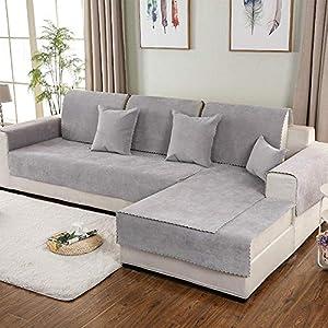 B/H Protector para Sofás Acolchado,Cojín de sofá Impermeable de Color sólido,cojín Antideslizante de Tela Universal de Cuatro Estaciones-B_70×210 cm,Fundas de Sofa Anti Arañazos
