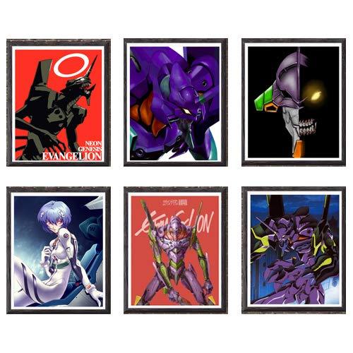 Neon Genesis Evangelion Giant Robot Eva Unit 01 Fabric Art Print for Home Decoration,8 x 10 Inches,Set of 6,No Frame