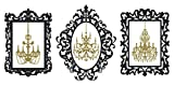 Chandelier Picture Frames Wall Decal (Black & Gold, 33' (H) X 42' (W))