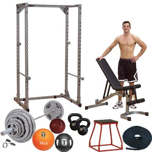IRON COMPANY Body-Solid Garage Gym Cross-Training Studio Set - Bronze Package