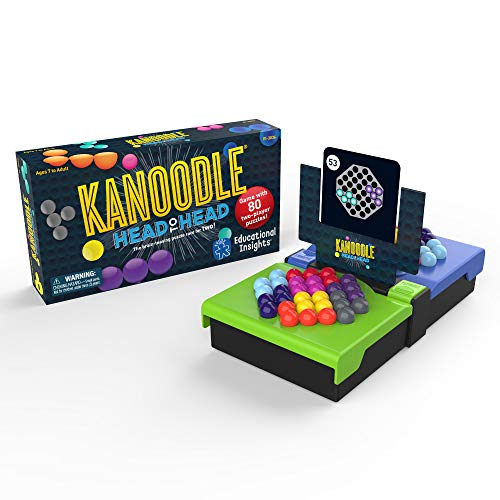 Educational Insights Kanoodle Head-to-Head | Puzzle Game for 2 | 2-Player Game for Kids, Teens & Adults | Featuring 80 Challenges