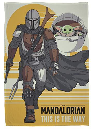 The Mandalorian Fleecedecke | Star Wars This is the Way Mando Design | super weiche Decke | perfekt für jedes Schlafzimmer | Polyester, 100 x 150 cm